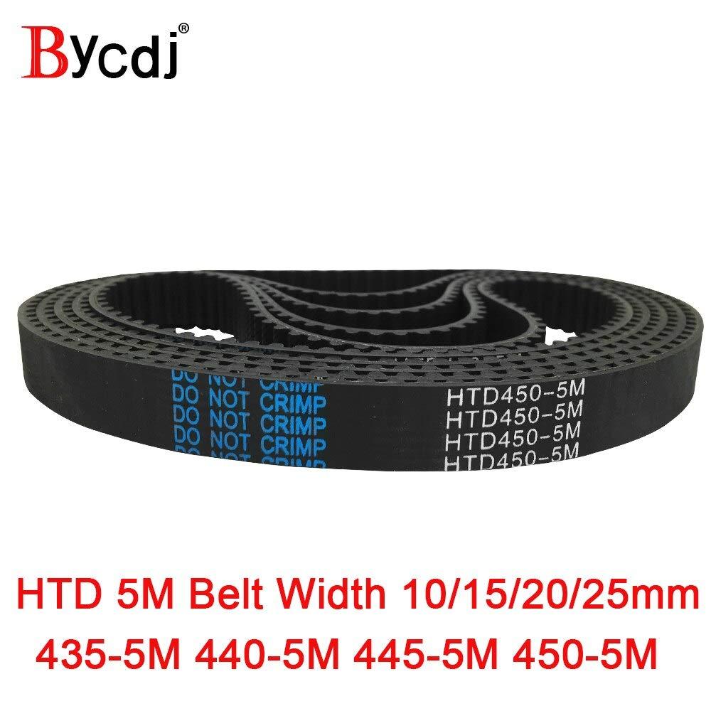 Fevas Arc HTD 5M Timing Belt C=435//440//445//450 width10//15//20//25mm Teeth 87 88 89 90 HTD5M synchronous Belt 435-5M 440-5M 445-5M 450-5 Width: 10mm, Length: 435mm Teeth 87, Number of Pcs: 2pcs