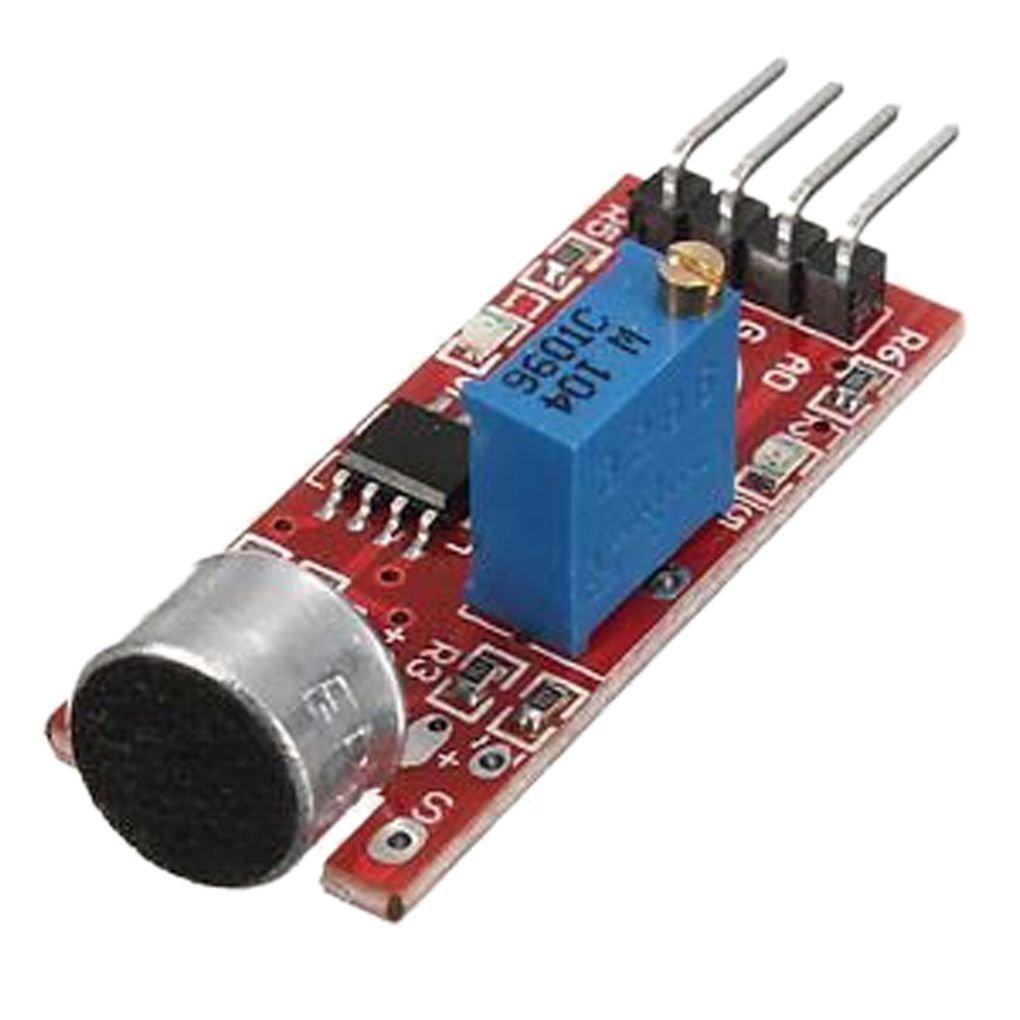 EgalBest 4Pcs MAX9812 Microphone Amplifier Module Sound Detection Sensor Module Sensor for Arduino