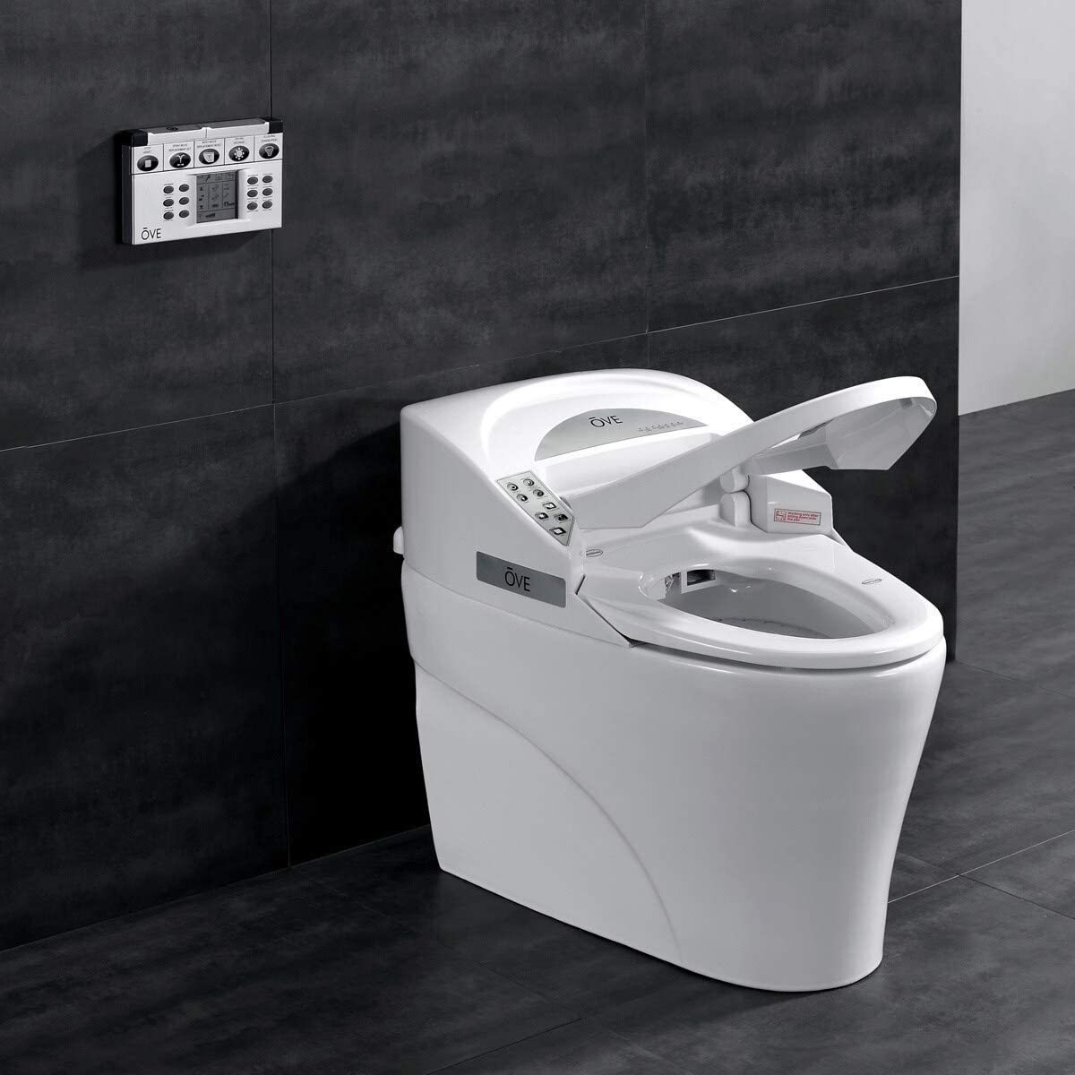 Ove Decors 735h Smart Bidet Toilet Elongated One Piece Modern Desing Automatic Flushing Heated Seat With Integrated Multi Function Remote Control White 31 3 X 16 8 X 23 8 Inches Amazon Com