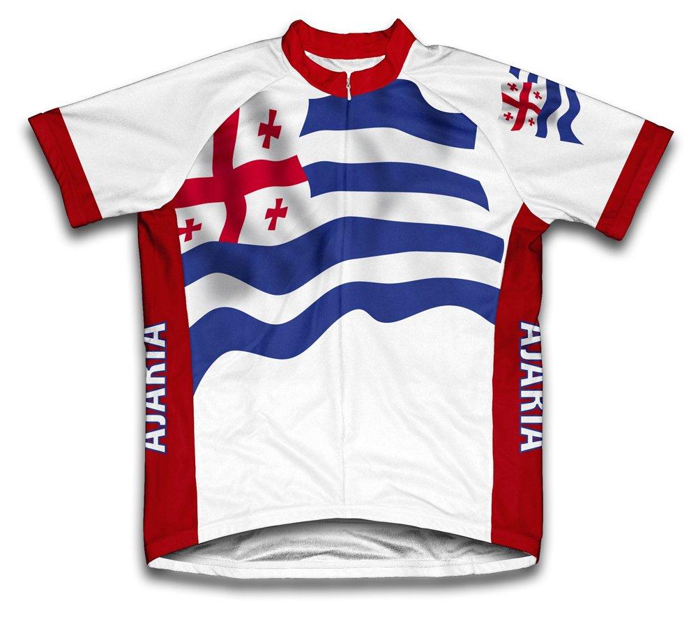 Adjara Flag Radsport Trikot mit kurzer Ärmel für Frau