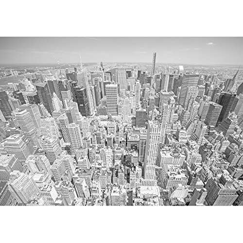 wall26 - Black and White Toned Aerial View of Manhattan, New York City, Usa. - Removable Wall Mural | Self-adhesive Large Wallpaper - 100x144 inches by wall26 (Image #1)