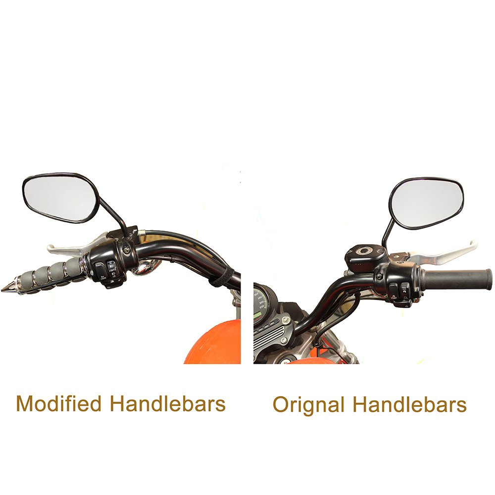 Pair of 1 Dual Motorcycle Bar End Hand Grips Handlebar for Cruisers Harley Honda Yamaha Suzuki Kawasaki