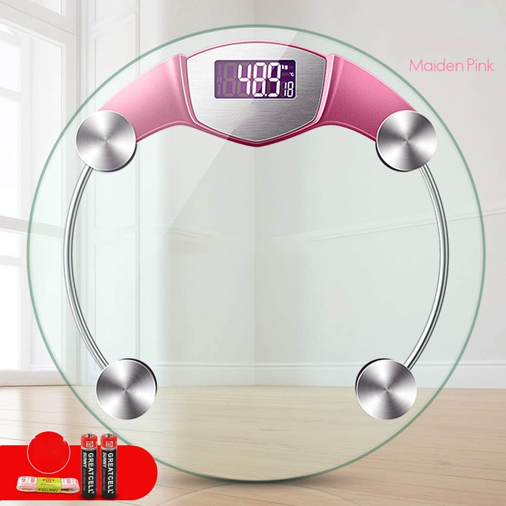 DOZ Electronic Weighing Scale Household Adult Accurate Human Scale Electronic Scales Weight Scale Health Scale Weighing Instrument (Color : Pink) by DOZ