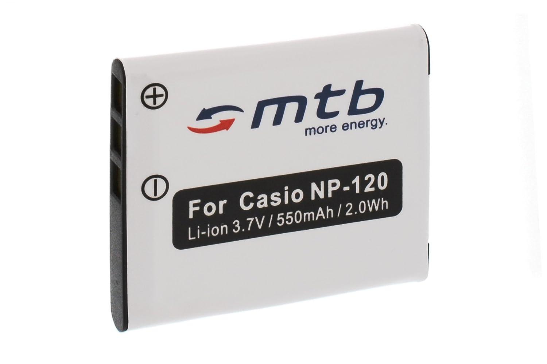 Batteria NP-120 per Casio Exilim EX-S200, Z680, Z690, ZS10, ZS12, ZS15, ZS20 mtb more energy BAT-328