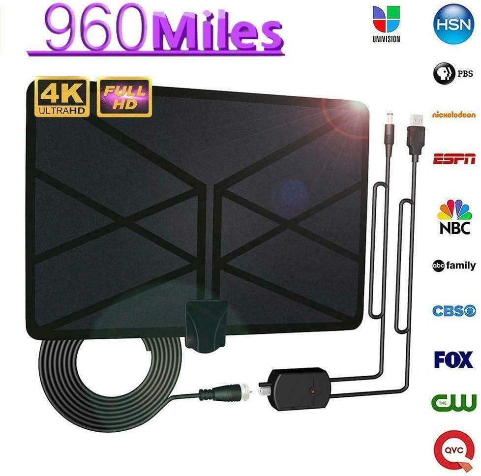 Mkiki 960 Mile Alcance Antena TV Digital 4K HD Digital Interior HDTV 1080P Skywire Antena: Amazon.es: Electrónica