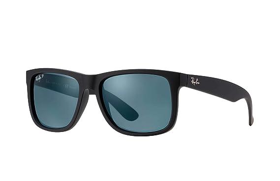 43a95e8e990 Ray-Ban RB4165 Justin Polarized Sunglasses Matte Black w Dark Blue (622