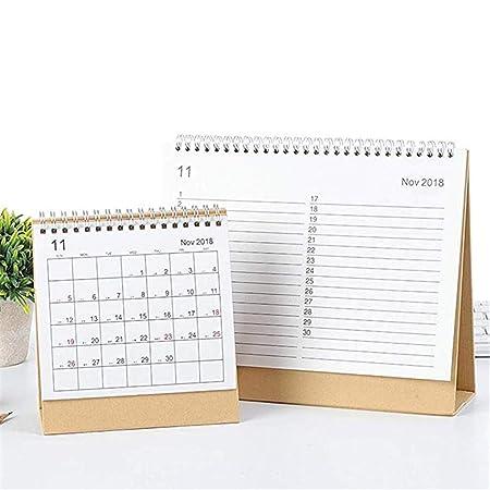 Calendario de mesa 2019, agenda horizontal semanal, planificador ...