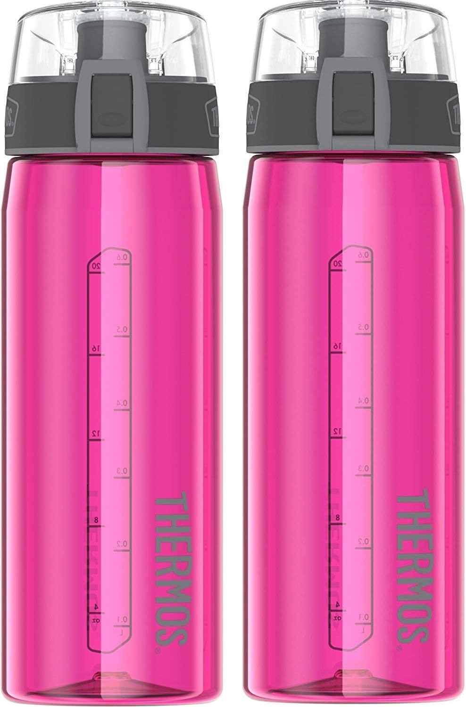 Ultra Pink 2 Bottle Set Thermos 24 Ounce Eastman Tritan Hydration Bottle