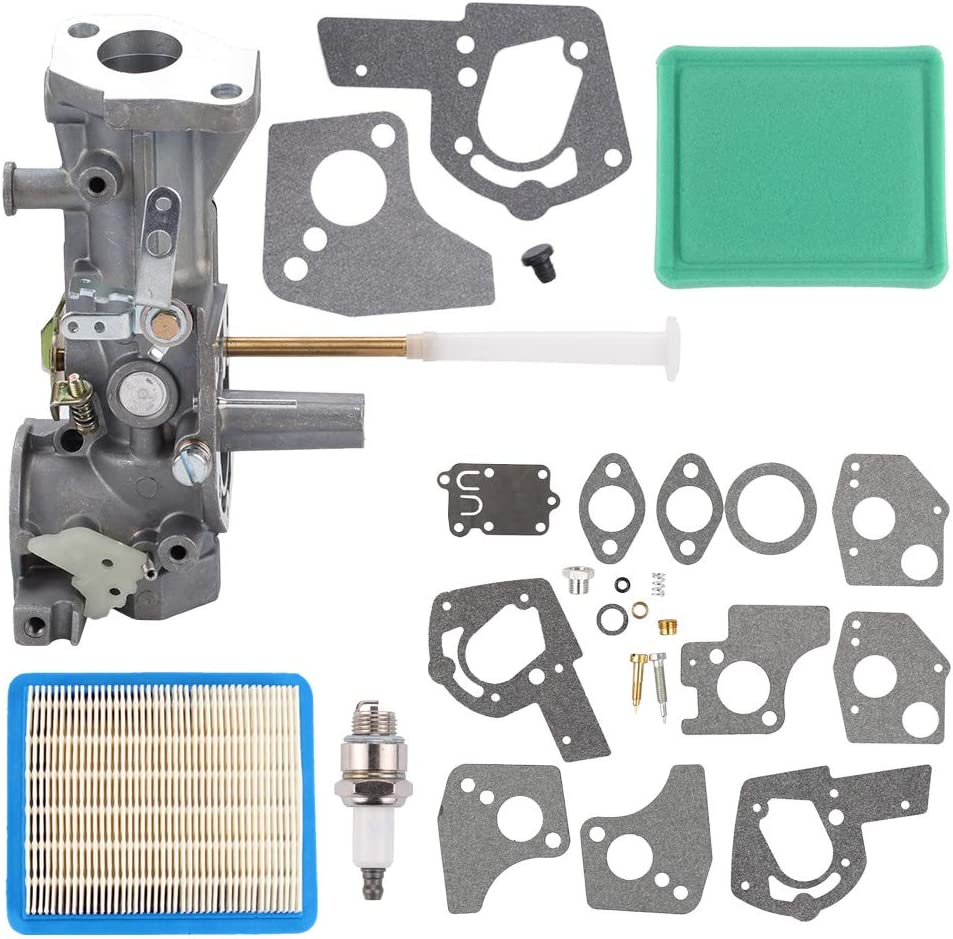 Mengxiang 499952 Carburetor with 491588 Air Filter 495606 Carburetor Overhaul Kit for Briggs and Stratton 92200 091252 091202 091212 091232 092202 092212 092232 092252 094202 095202 095212 Engine