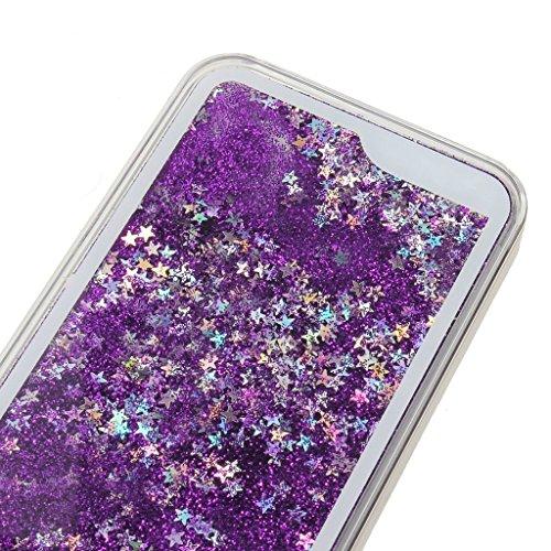 Yaobai-2015 New iPhone 4/4s Case Coque Housse Etui Transparent Clair Cristal dur plastique Cover ¨¦tui de protection Liquide se ¨¦coulant Bling Glitter Sparkles pour iPhone 4/4s