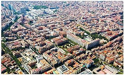 España casas Megapolis desde arriba Barcelona citiess sitios de viajes postal Post tarjeta: Amazon.es: Oficina y papelería