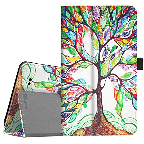 Fintie Alcatel 3T 8 Tablet Case 2018, Premium PU Leather Folio Stand Cover Compatible with 2018 T-Mobile Alcatel 3T 8-inch Tablet, Love Tree