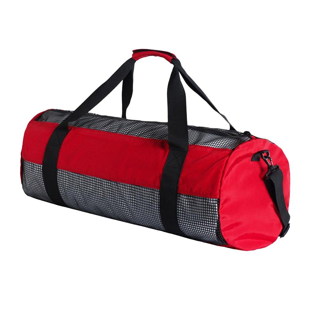 Fenteer Scuba Diving Mesh Gear Bag Travel Backpack for Scuba Diving Snorkeling Swim Gym Fitness Sport Equipment