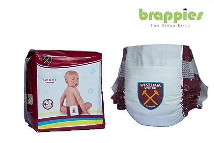 Oficial del West Ham United FC Bebé Pañales Tamaño 4 – 11 kg), pack