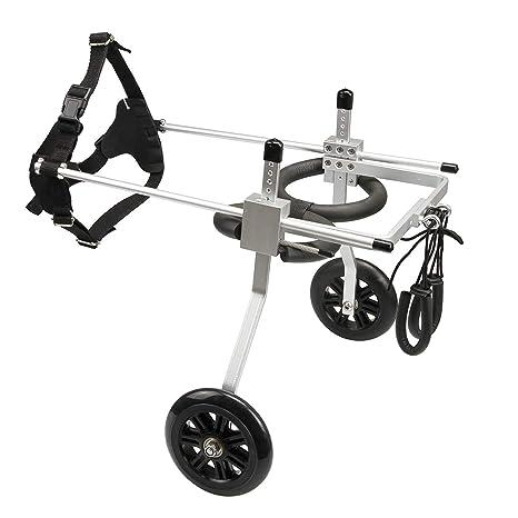 PLDDY Bolsa de mascotas Kit de carro para silla de ruedas para perros de 2 ruedas