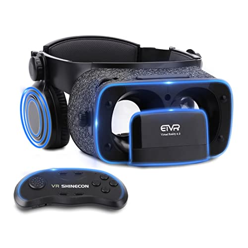 ETVR Ultralight Virtual Reality Headset with Stereo Headphones