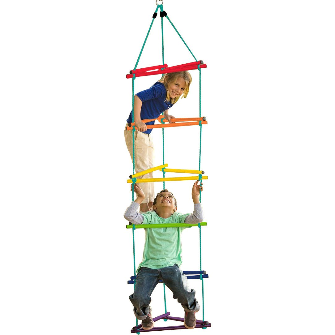 SupremeToys Kids Tree Climbing Rope Ladder - 72'' Long Tri-Climber is Strong and Sturdy with Rainbow Colors - Kids Will Imagine Exciting Destinations As They Climb The Ladder - 4 Years and Up. New
