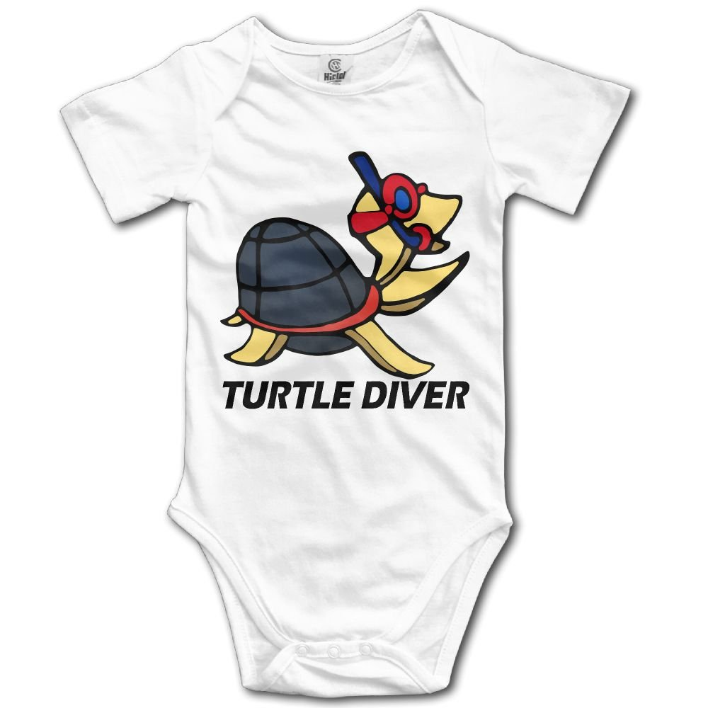 Turtle Diver Baby Short-Sleeve Onesies Bodysuit Baby Outfits