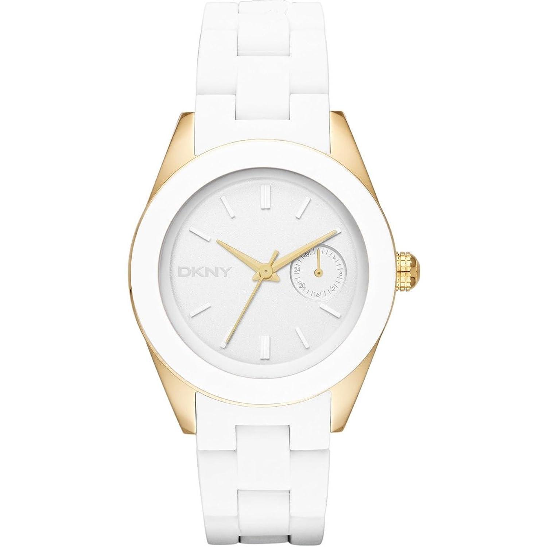 Amazon.com: DKNY White Dial White Silicone Ladies Watch NY2144: DKNY:  Watches