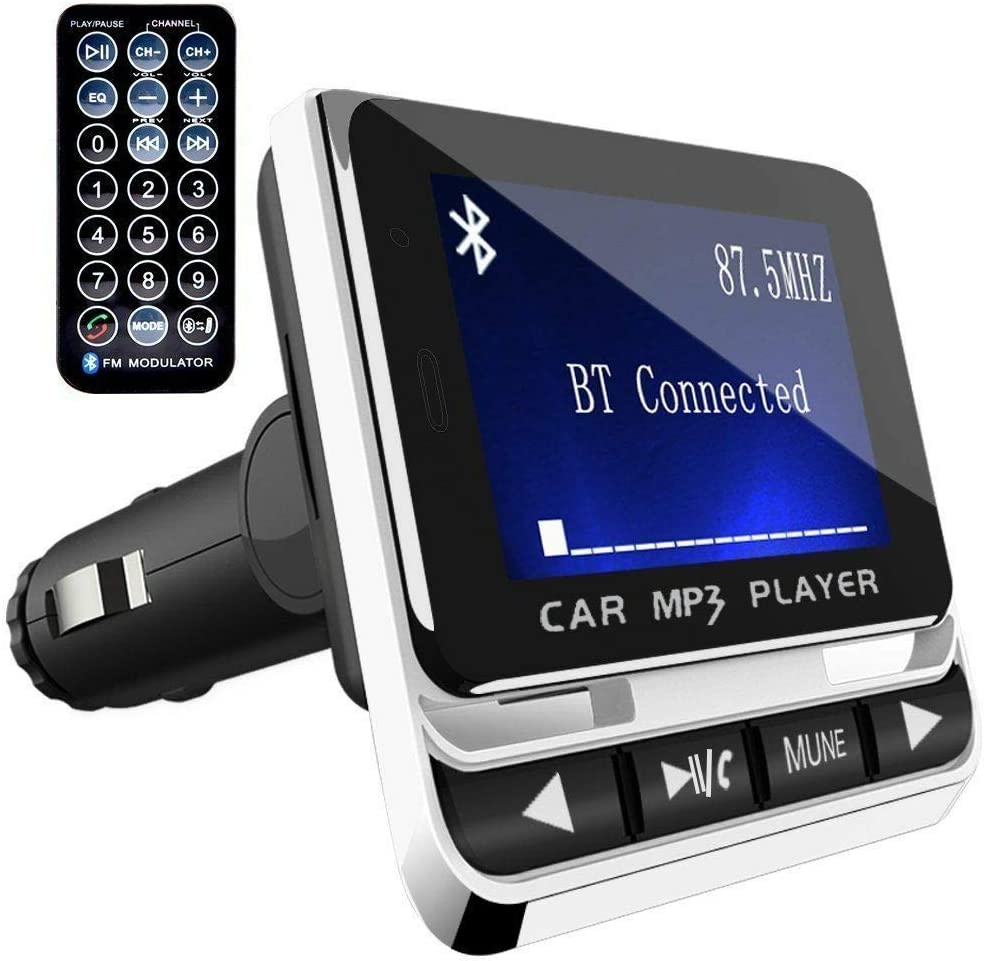 OUYAWEI Electronics Car Bluetooth FM Transmitter with USB Charger /& Remote Control Hands-Free Call