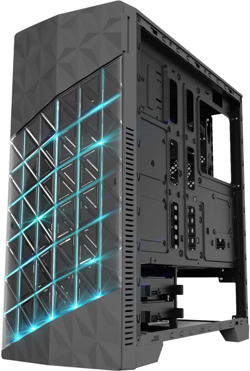 4*USB3.0//2.0 Azza Onyx 260X RGB Custodia da gioco Middle Tower AxPxL 473x447x198 mm Nero 2 Ventole da 120 mm