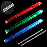 YiPaiSi Bright LED Light Up Drumsticks, 5A Drumsticks Light LED, Light Up Drumsticks, Glow in The Dark Night light Drum Stick