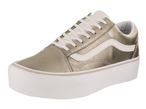 17f17010ddb6 Vans Unisex Old Skool Platform Gray Gold True White Skate Shoe 6.5 Men US    8 Women US  Amazon.co.uk  Shoes   Bags