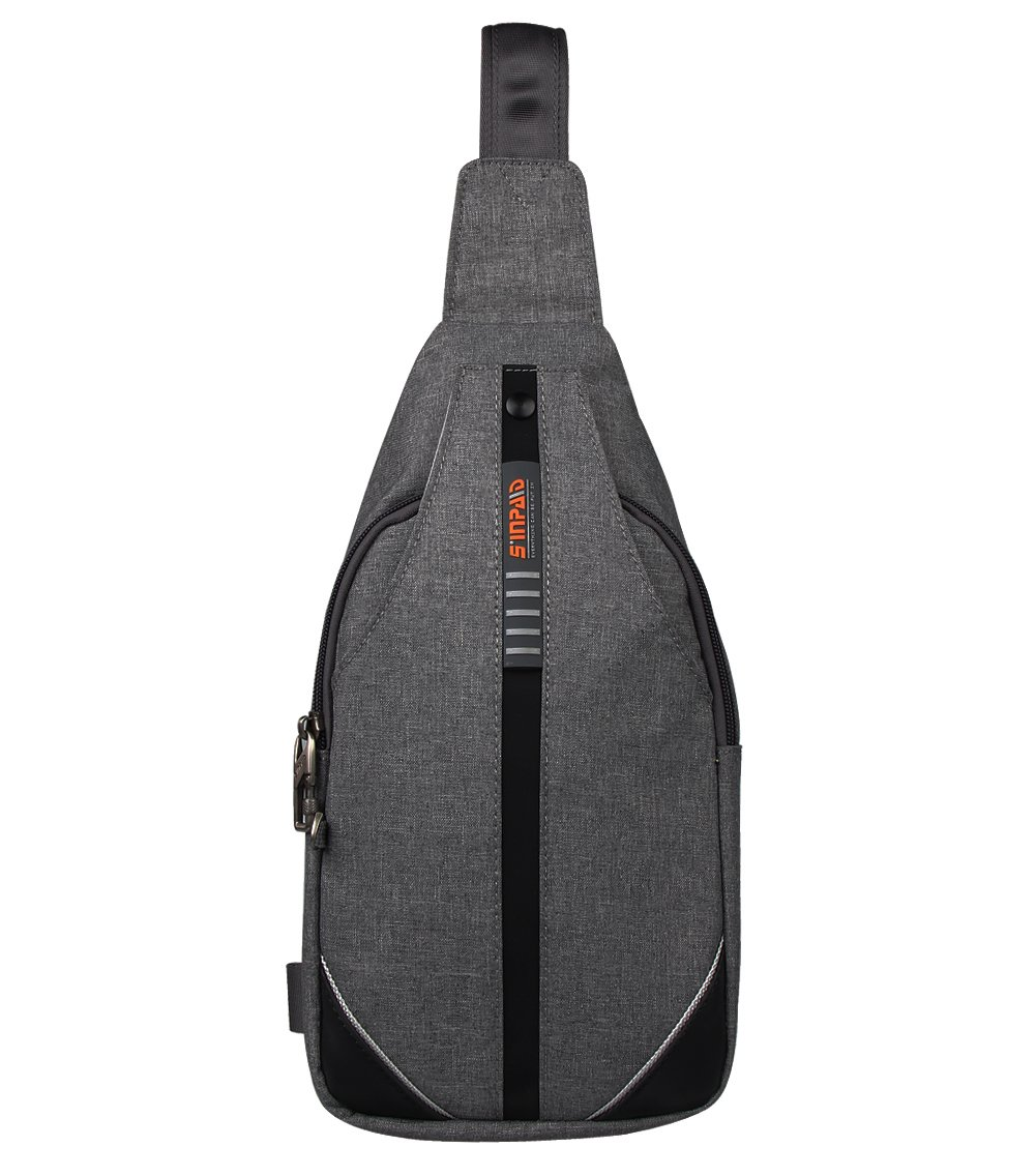 DEKINMAX Mini Sling Crossbody Bag, Anti Theft Backpack for Men Women Outdoor Hiking Travelling(Gray)