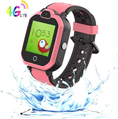 9Tong Waterproof Phone Kid Smart Watch Tracker GPS Camera Kids Smart Watches Phone Games Child Smart Watch New 4G Alarm Clock SOS Pedometer