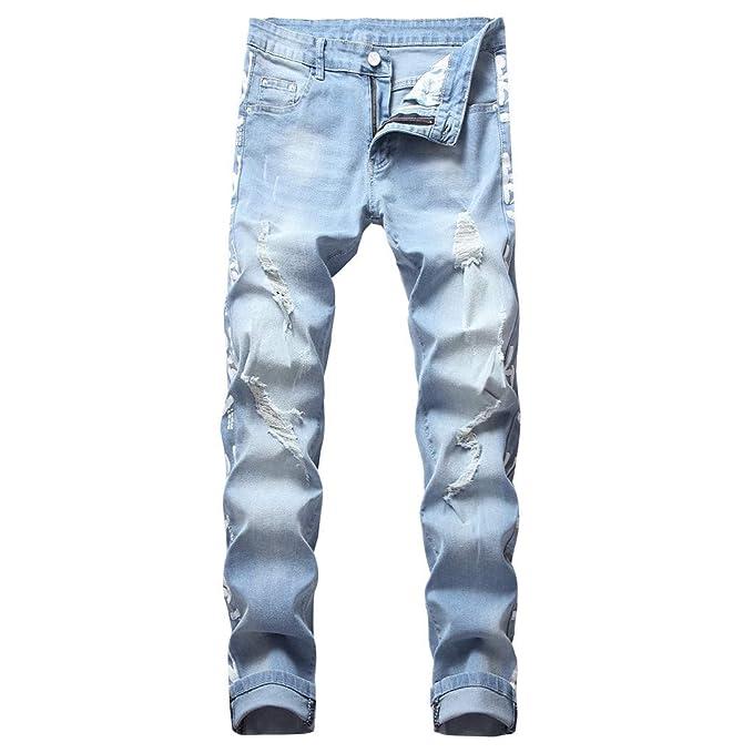 Pantalones de Mezcilla para Hombre, Pantalones Vaqueros ...