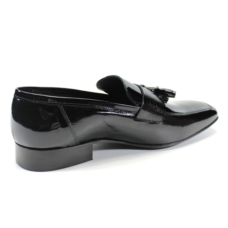 Zapatos de los hombres clásicos mocasines hechos a mano en Italia PIERRE CARDIN (45, Negro): Amazon.es: Zapatos y complementos