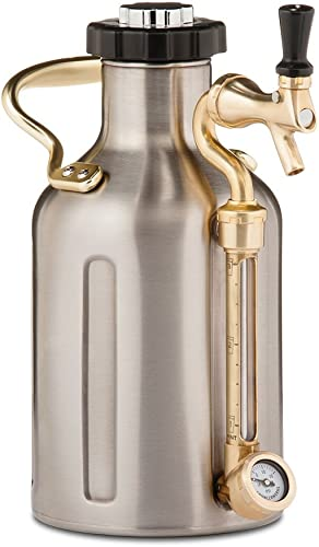 GrowlerWerks-uKeg-Carbonated-Growler,-64-oz,-Stainless-Steel