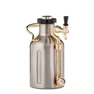 uKeg 64 oz Pressurized Growler for Craft Beer - Stainless Steel