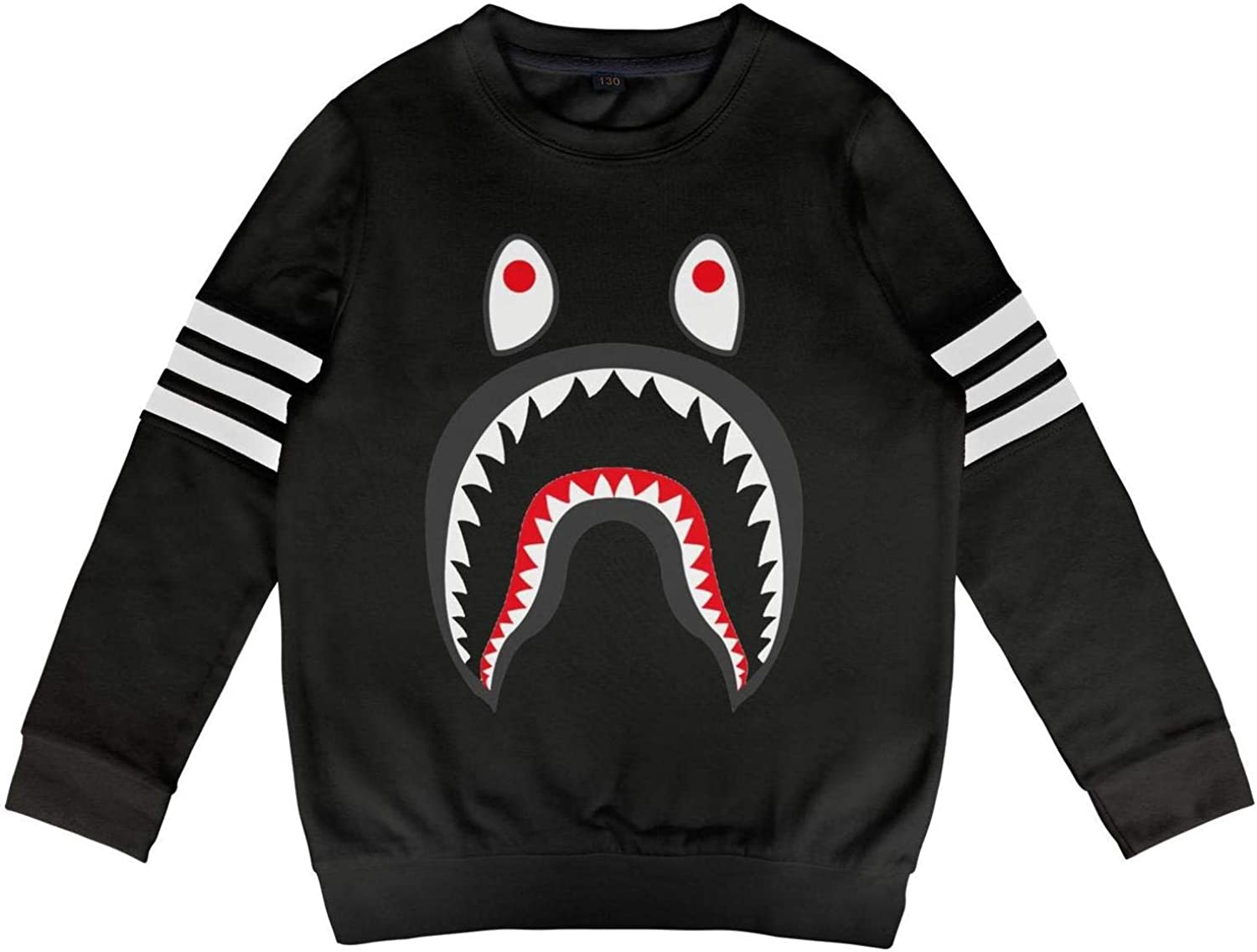 Kids Shark PONR TEE Mens Little Boys Crew Sweatshirt for Girls Boys Crew Neck.Youth Outfit