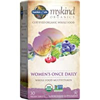 Garden of Life Multivitamin for Women - mykind Organics Women's Once Daily Multi - 30 Tablets, Whole Food Multi with…