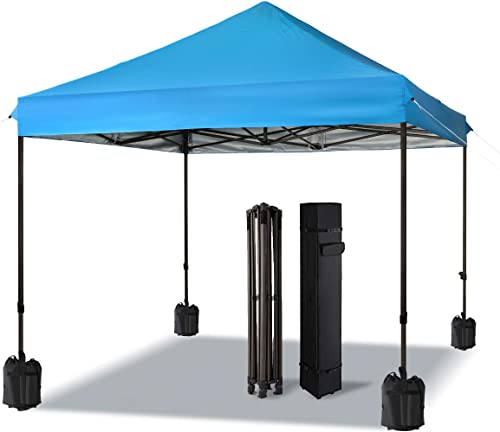 COMOOO Outdoor Pop Up Canopies Tent 10×10 Beach Tailgate Tent Portable Camping Instant Tent