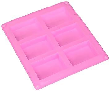 HOSL 3 unidades molde rectangular de silicona molde para Casera Artesanía jabón moho, pastel,