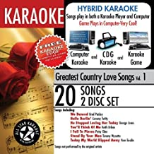 ASK-101 Karaoke: Greatest Country Love Songs with Karaoke Edge, Brad Paisley, George Jones, Keith Urban by Karaoke (2009-04-14)