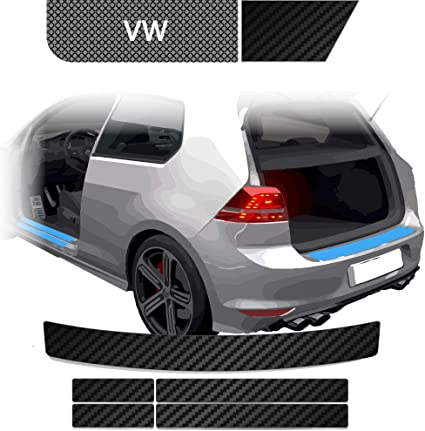Blackshell Ladekantenschutz Einstiegsleisten Set Inkl Premium Rakel Für Touran 1 Typ 1t Gp Gp2 2003 2015 Carbon Matt Passgenaue Lackschutzfolie Auto Schutzfolie Auto