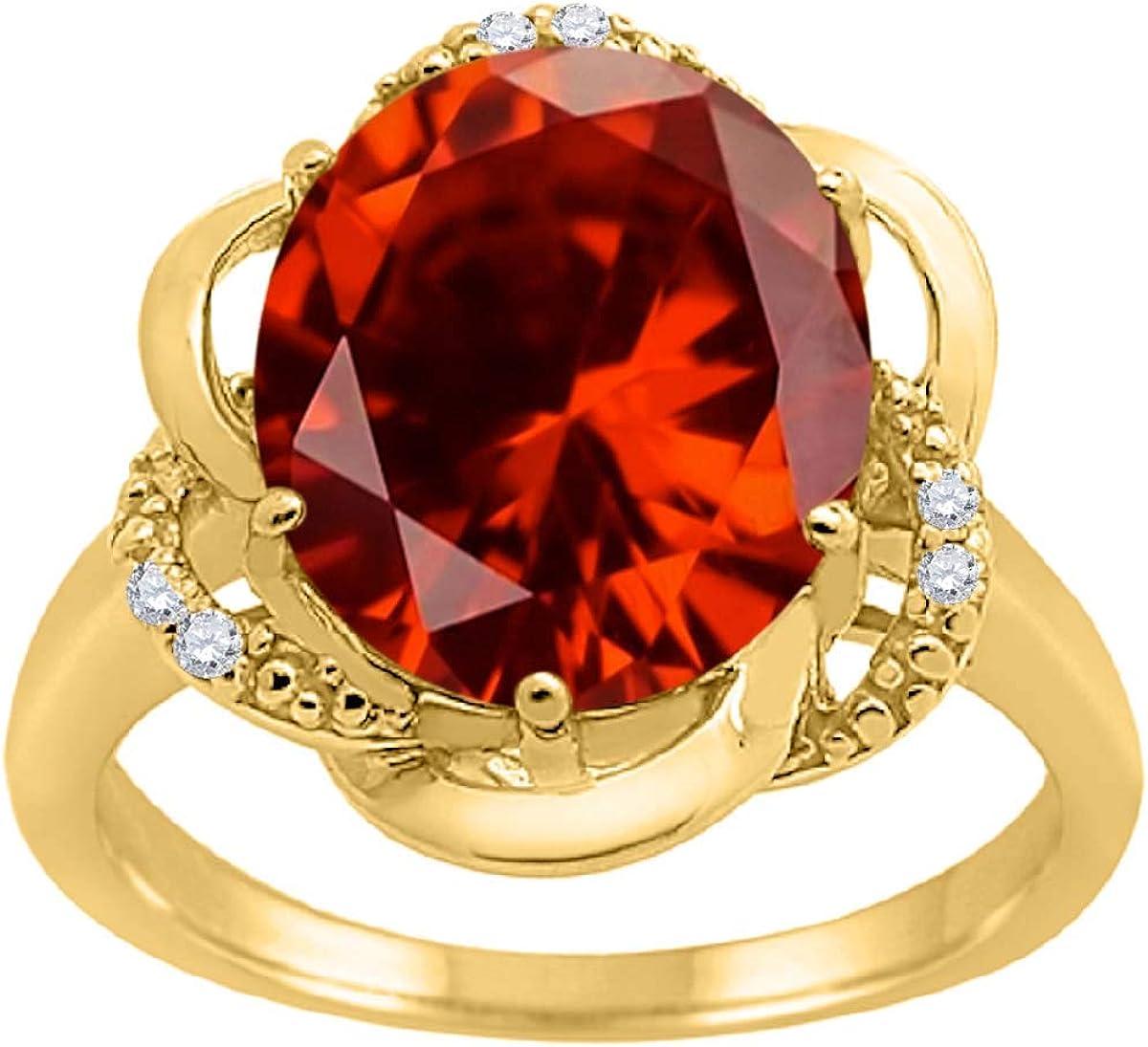 Details about  /Garnet 4.12 Ct Gemstone Cushion Shape 10k White Gold Ring for Women
