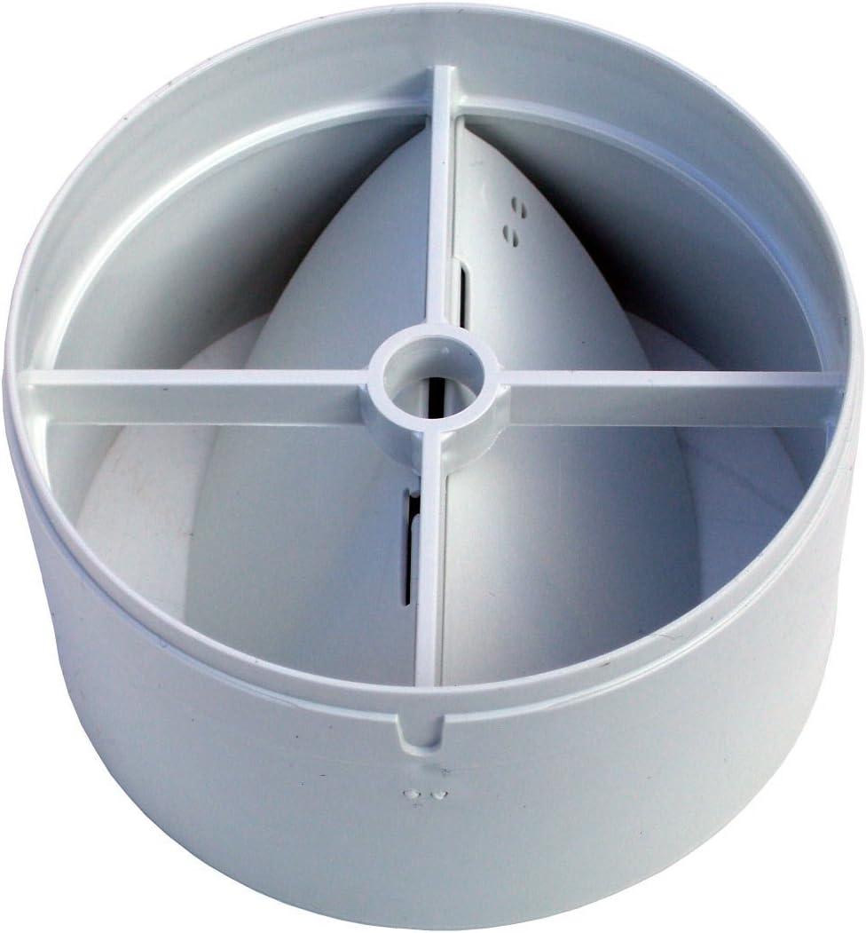 Ventilador en Línea con Obturador de Calado Trasero 100mm: Amazon.es: Bricolaje y herramientas