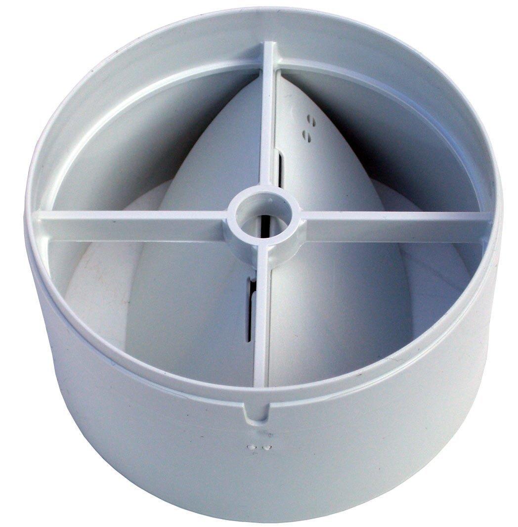 100/mm Inline-Saugl/üfter Entl/üftung R/ückseite Zugluftklappe mit einer Feder und zwei Klappen