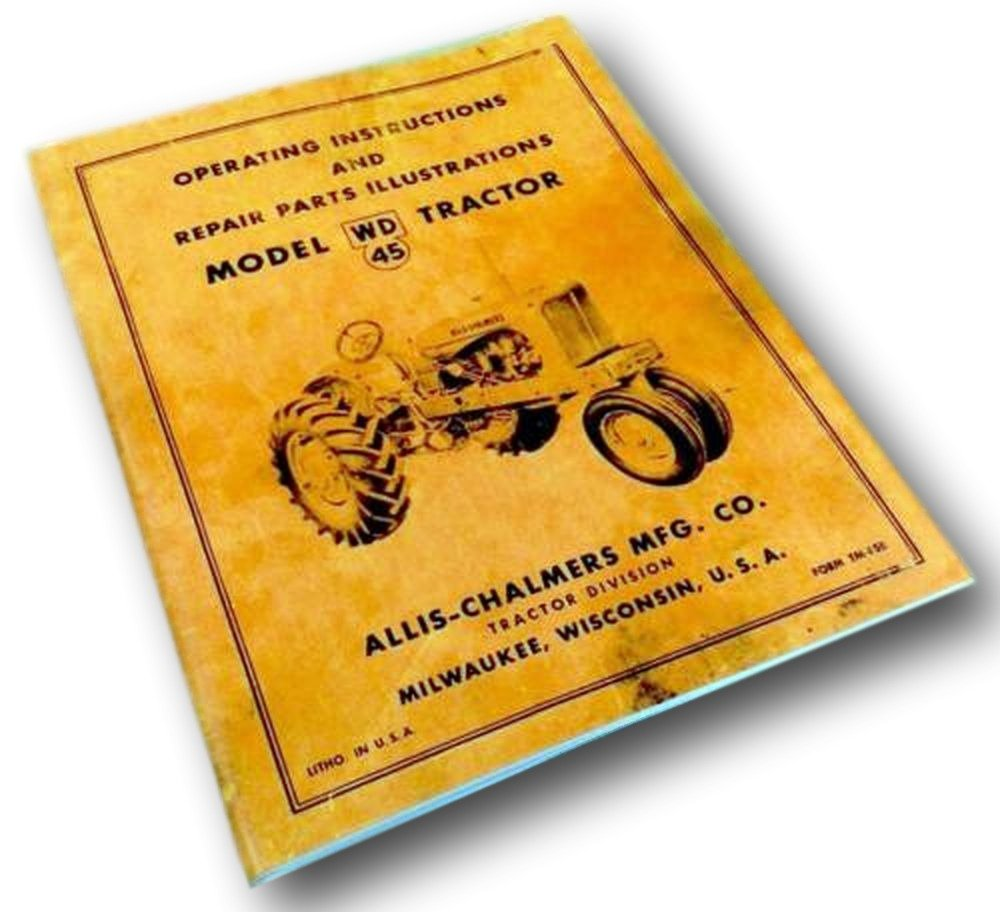 Allis Chalmers 45 Diagram Wire Data Schema Buildelectroniccircu Amazon Com Wd Tractor Operators Parts Manual Rh B