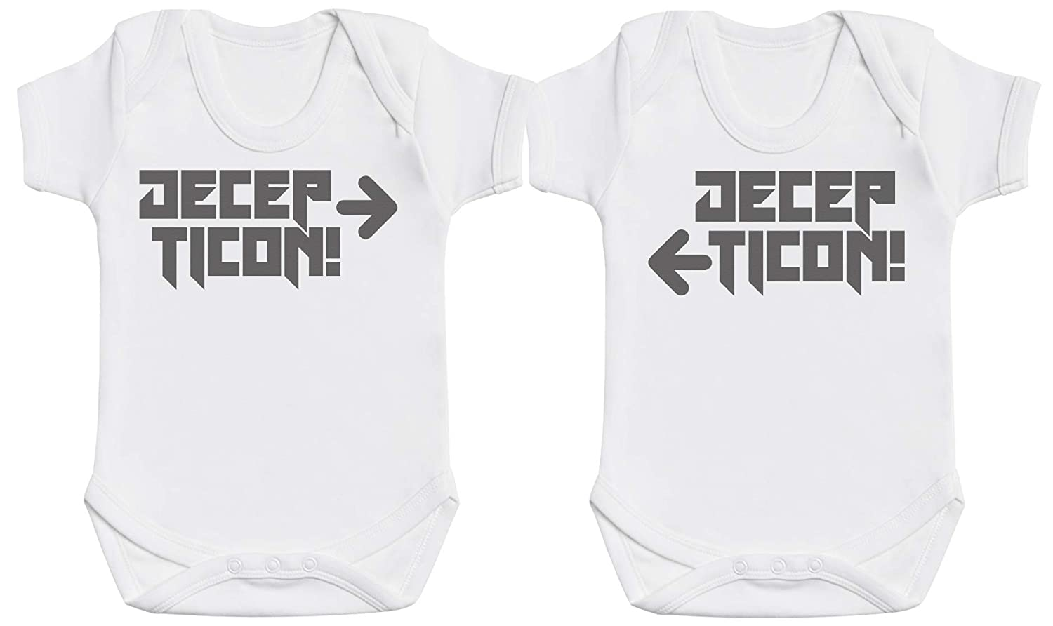 Decepticon Twins Baby Twins Gift, Twin Baby Bodysuits, Baby Twins Clothing Gift