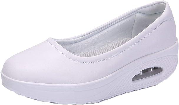 Zomine Women's Nurse Shoes Thick Bottom