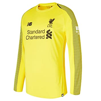 96d5254500c New Balance Liverpool FC Collection 2018/2019 Home Kit Yellow Polyester Long  Sleeve Mens Soccer