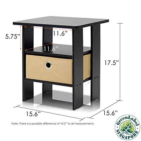 Amazon Com Furinno End Table Bedroom Night Stand