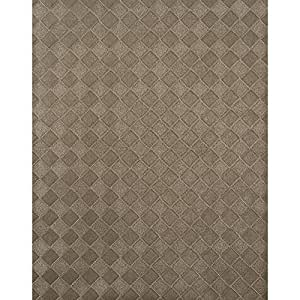 York Wallcoverings HT2001 York Textures Diamond Weave Wallpaper, Silver Metallic by York Wallcoverings