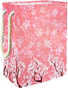 Unicey Cherry Blossom Laundry Hamper Collapsible Basket for Storage Bin Baby Hamper