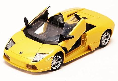 Amazon Com Lamborghini Murcielago Roadster Yellow 1 24 Model Car By